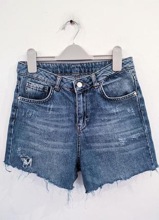 Шорты джинсовые на высокой посадке defacto