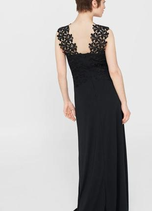 Элегантное вечернее платье mango с кружевом. для высокой девушки