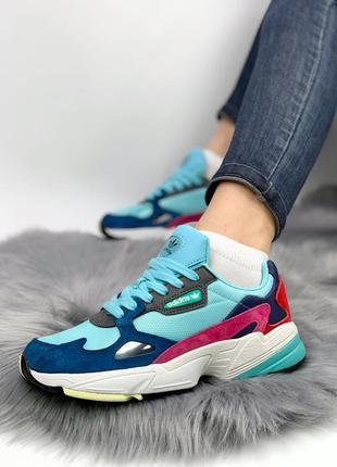 Кроссовки женские  adidas falcon mint blue
