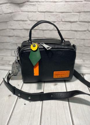 Женская кожаная сумка. Клатч кожаный. Кроссбоди. Polina&Eiterou.