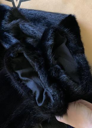 Норковая шуба полушубок автоледи с капюшоном