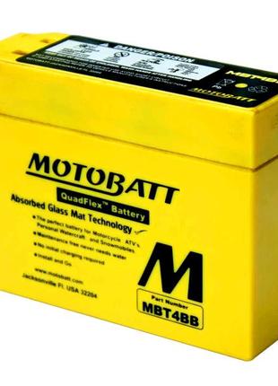 Аккумулятор скутер 2 A/ч AGM 12V Yamaha/Suzuki MOTOBATT MB MBT4BB