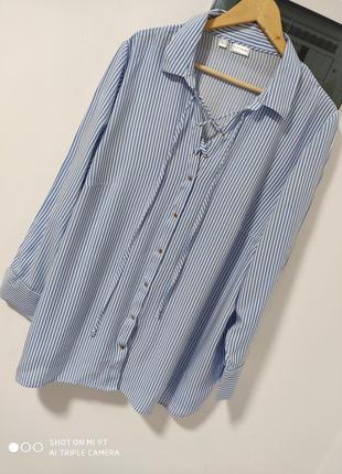Визкознвя блуза в полоску большого размера раз.6-7-8xl