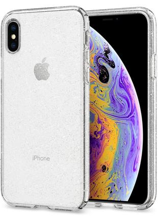 Чехол Spigen Liquid Crystal Glitter для iPhone XS/X Crystal Quart