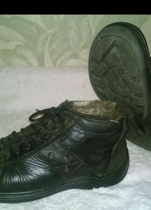 Ботинки зимние, кожаные Detta