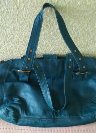 Кожаная сумка azur
