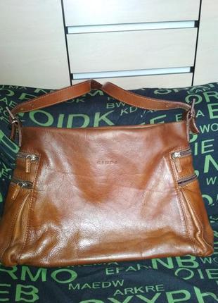 Кожаная сумка италия giudi