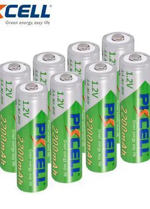 Батарейки аккумуляторы пальчиковые АА PKCell 2200 mAh