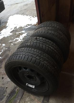 Зимові колеса шини диски резина в зборі 195-55-15r