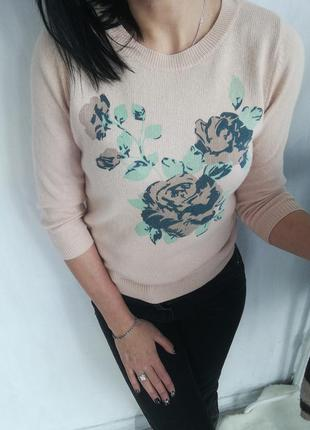 Стильный свитер в красивый орнамент от mint berry