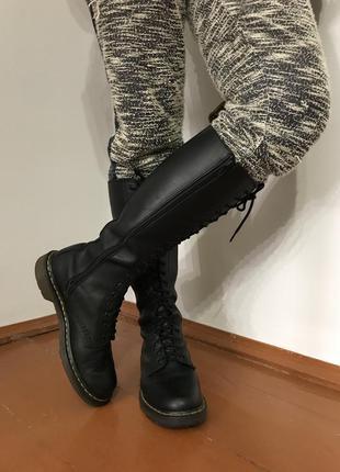 Ботинки сапоги кожа мартинсы dr martens обмен