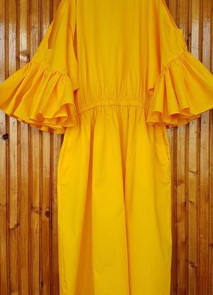 Летнее пышное платье h&m. хлопок.