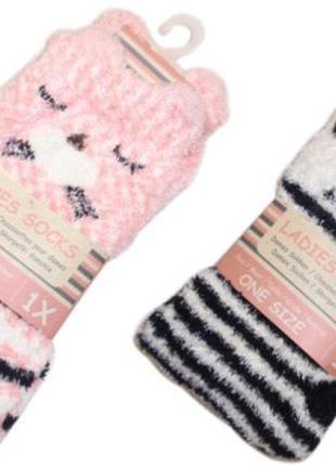 Плюшевые мягкие теплые домашние носки с тормозками травка ниде...