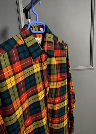 Весенняя английская рубашка в клеточку из шерсти