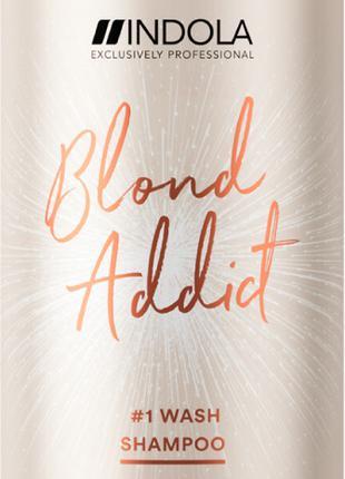 Indola Blond Addict Shampoo Шампунь для всех типов светлых волос