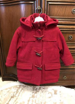 Шерстяное красивое пальто для девочки h&m