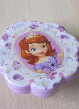 Детская складная расческа с зеркалом принцесса софия