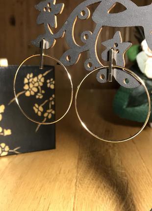 Тренд! аккуратные золотистые серьги гвоздики кольца, h&m
