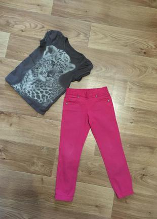 Срочно! переезд! комплект футболка h&m и штаны zironka на 4-5 лет
