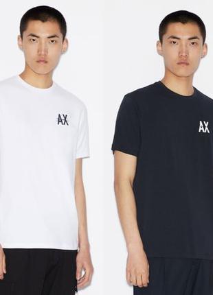 Мужские футболки Armani Exchange Темно-синия (L); Белая(M); (о...