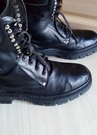 Высокие мужские ботинки на шнуровке 38 р, 39 р, 40 р.