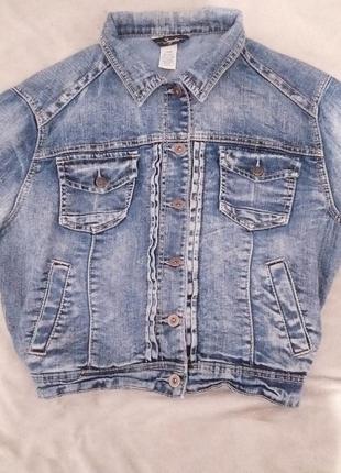 Куртка джинсовая варенка овер сайз размер m
