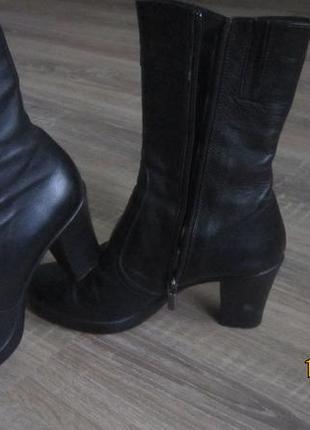 Сапоги полусапожки ботинки демисезонные из нат. кожи