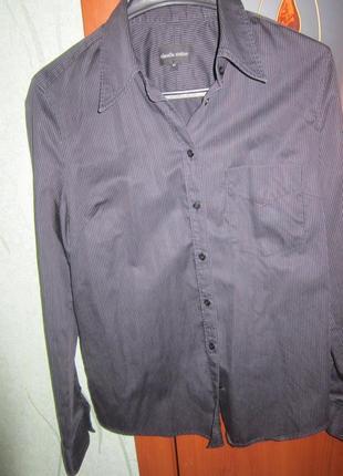 Блузка рубашка женская черно-белая полоска