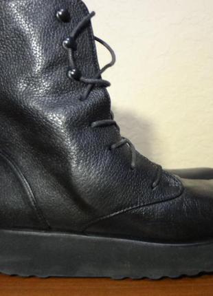 Демисезонные кожаные ботинки на платформе homers artisan 38 ра...