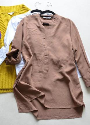 Котоновая рубашка zara