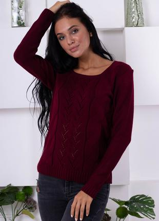 Нежный свитер ажурной вязки 189