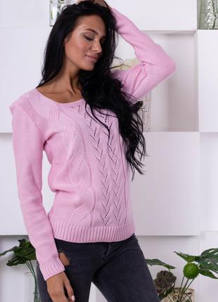 Нежный свитер ажурной вязки 186