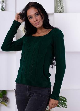 Нежный свитер ажурной вязки 188