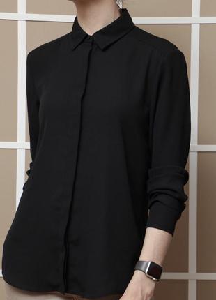Блуза, рубашка чёрная atmosphere, размер s