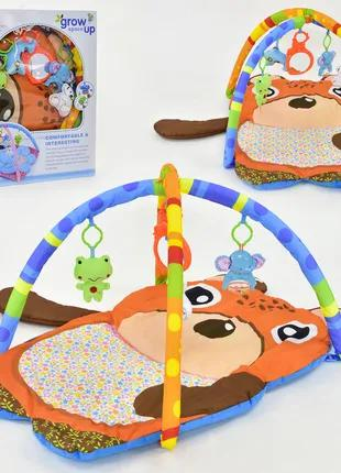 Развивающий коврик для младенца музыкальный D 117  5 подвесок