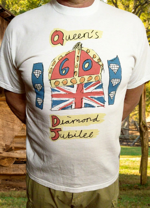 Белая футболка из хлопка queen's, марокко