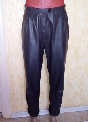 Меланжевые мягкие 100% кожаные брюки/ кожаные брюки/ брюки/штаны