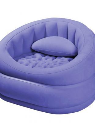 Надувное велюровое кресло Intex , фиолетовое
