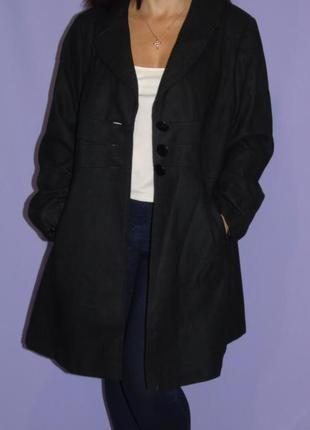 Демисезонное шерстяное пальто 20 размера george