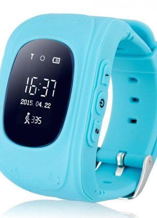 Детские умные часы Smart Baby Watch Q50 с GPS трекером Синие