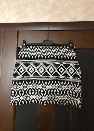 Актуальная трикотажная юбка-карандаш new look. супер!