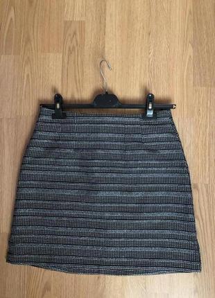 Sale брендовая юбочка от new look с серебряной нитью тренд 2020