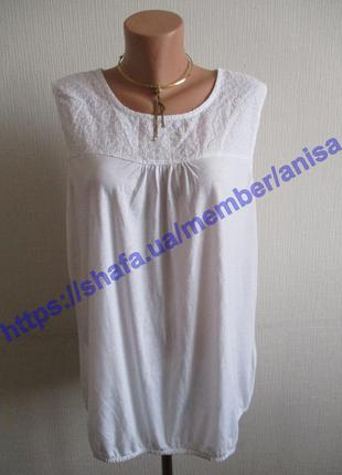 Блузка-майка с кружевной вышивкой tcm tchibo