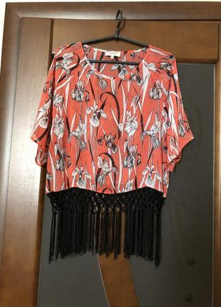 Классная шифоновая блуза от бренда papaya на наш 48+-. супер!