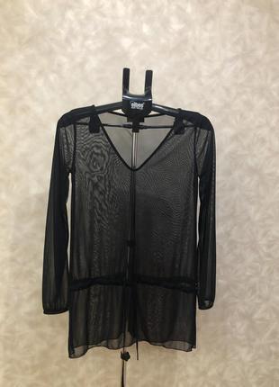 Модная блузка сеточкой от utg на наш 44-48. супер!