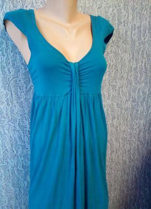 Бирюзовое платье для беременных и не только.