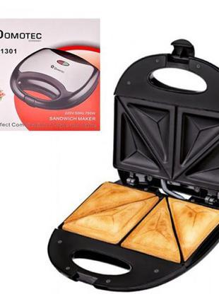Электрическая бутербродница  сендвичница  Domotec Антипригарноя