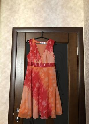 Яркое шифоновое платье от bonprix на наш 46. супер!