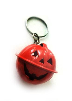 Брелок колокольчик тыква гарбуз halloween хэллоуин хеллоуин