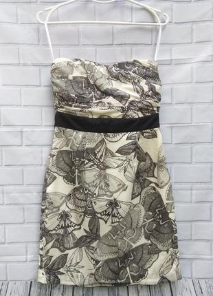 Платье - бюстье /корсет с бабочками h&m